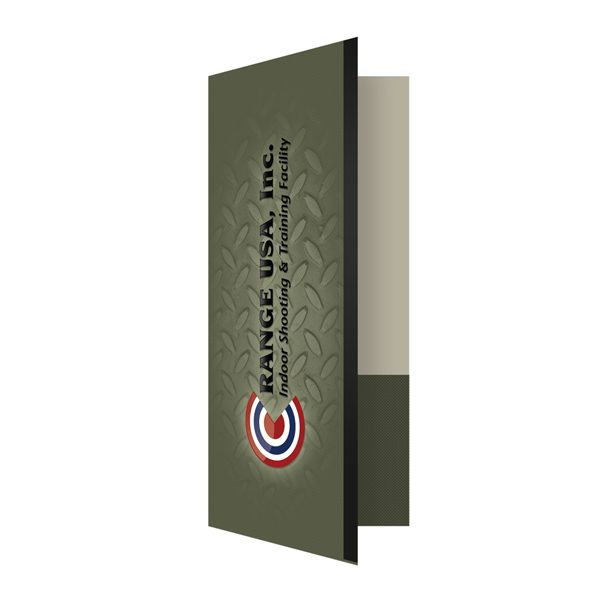 Metal Presentation Folders for Range USA (Front Open View)