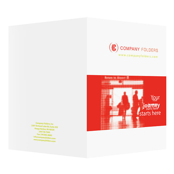 Silhouette Travel Agent Folder Template (Front and Back View)