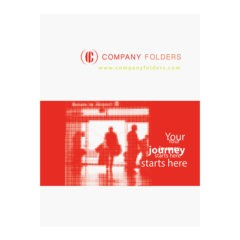 Silhouette Travel Agent Folder Template (Front View)