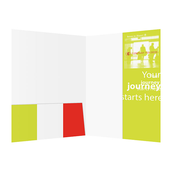 Silhouette Travel Agent Folder Template (Inside View)