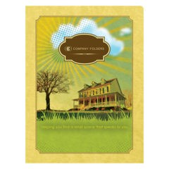 Sunny Home Real Estate Folder Template (Front View)