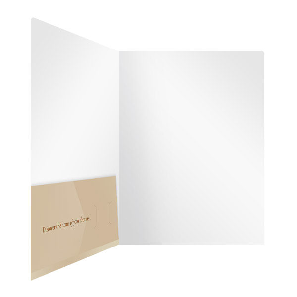 Warm Home Real Estate Folder Template (Inside Right View)