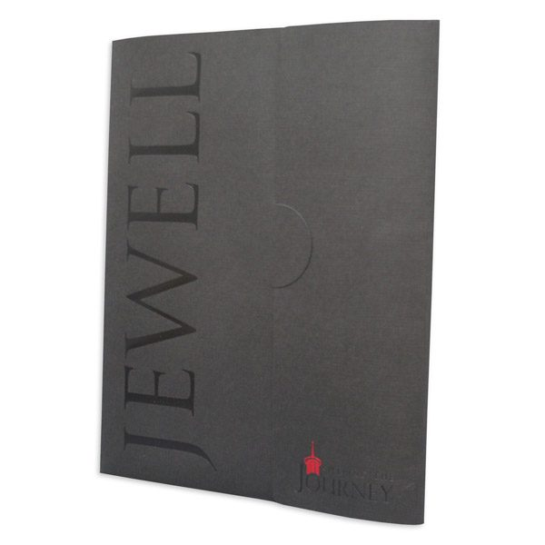 William Jewell College Custom Made Presentation Folder (Front Angled View)
