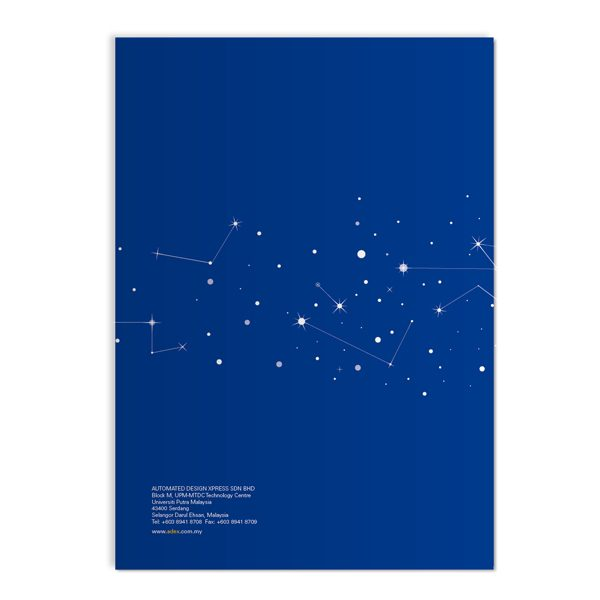 ADeX Navy Blue Constellation Folder (Back View)