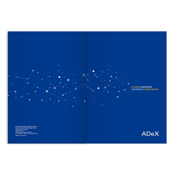 ADeX Stars Presentation Folder (Front and Back View)