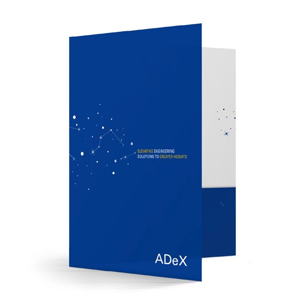 ADeX Star Chart Business Folder (Front Open View)