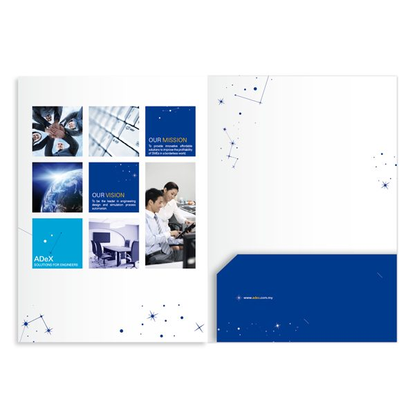 ADeX Constellation 1-Pocket Folder (Inside Flat View)