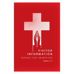 Church Visitors Welcome Folder Template (Front View)