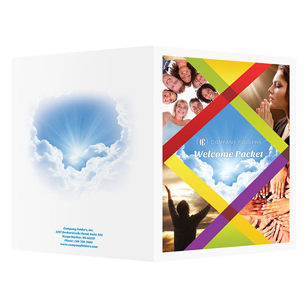 Church Welcome Packet Folder (Front and Back View)