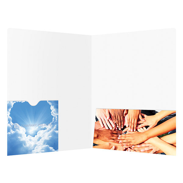 Church DVD Pocket Folder Template (Inside View)