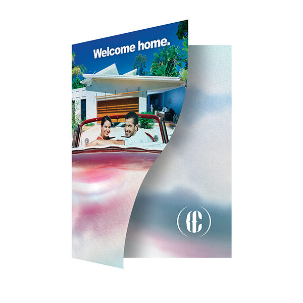 Retro Home Real Estate Folder Template (Front Open View)