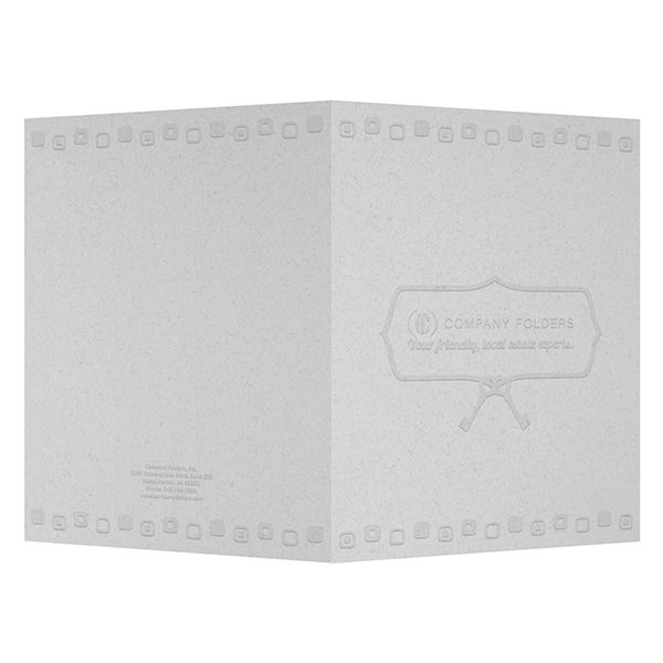 Retro Embossed Real Estate Folder Template (Front and Back View)