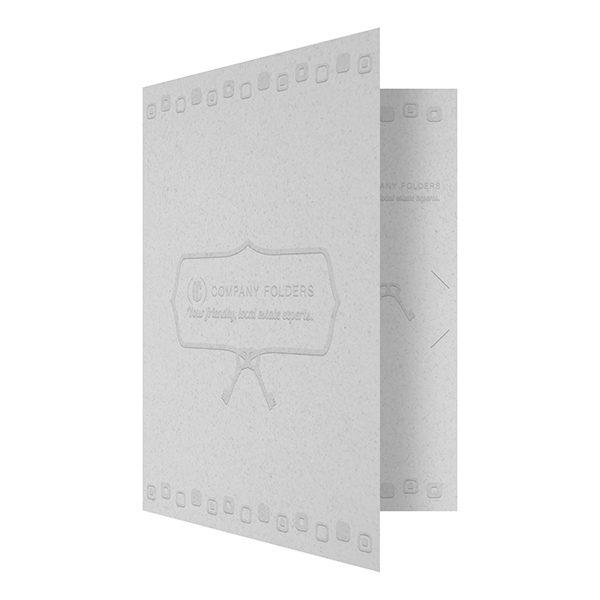 Retro Embossed Real Estate Folder Template (Front Open View)