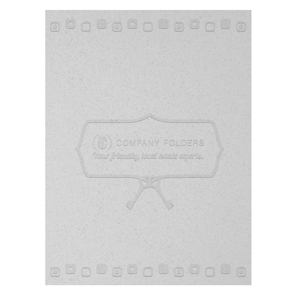 Retro Embossed Real Estate Folder Template (Front View)