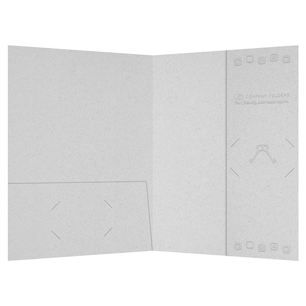 Retro Embossed Real Estate Folder Template (Inside View)