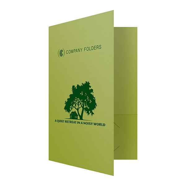 Green Presentation Folder Template (Front Open View)