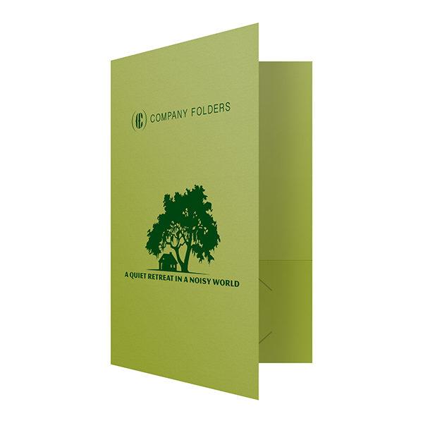 Green Presentation Folder Template (Front Open View)