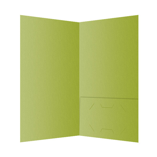 Green Single Pocket Folder Template (Inside View)