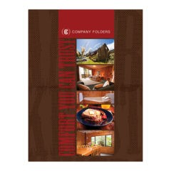 Comfortable Bed and Breakfast Folder Template (Front View)