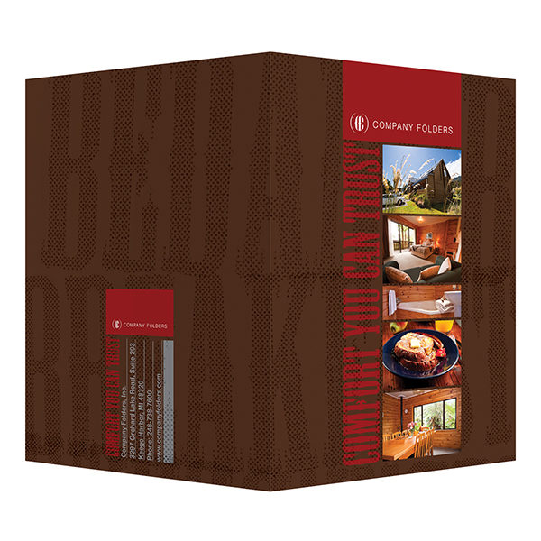 Bed and Breakfast Presentation Folder Template (Front and Back View)