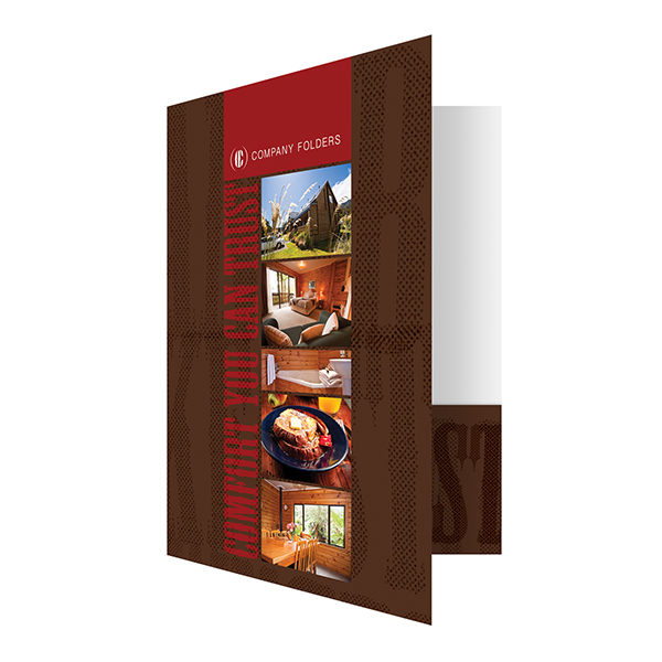 Rustic B&B Folder Template (Front Open View)