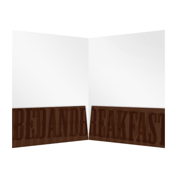 Brown 2-Pocket Folder Template (Inside View)
