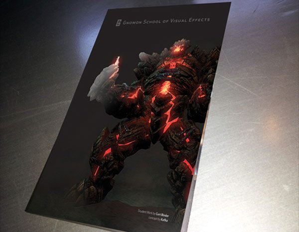 Gnomon School Cool Presentation Folder (Front Angle)