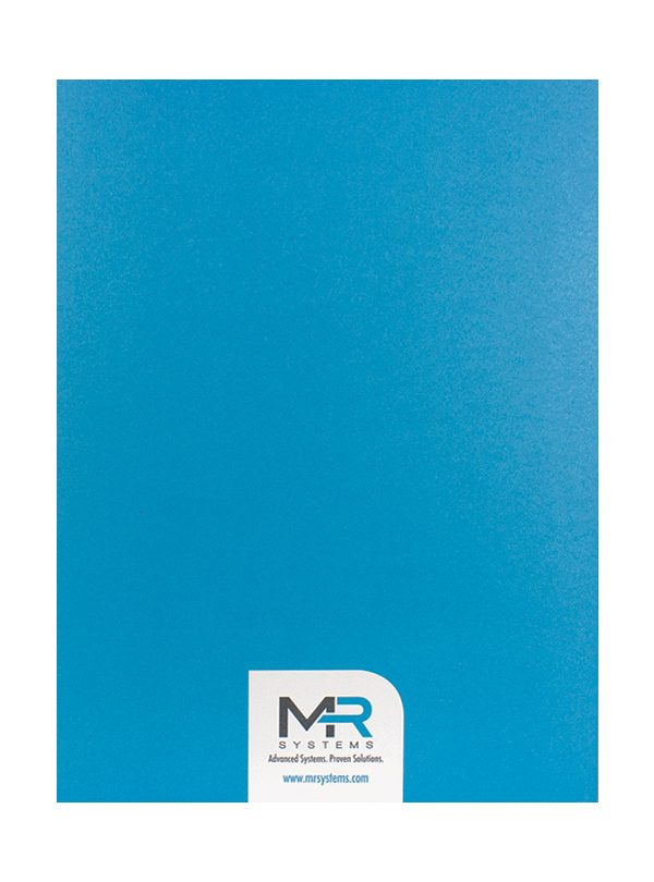 MR Systems Custom Folder with Logo (Back View)