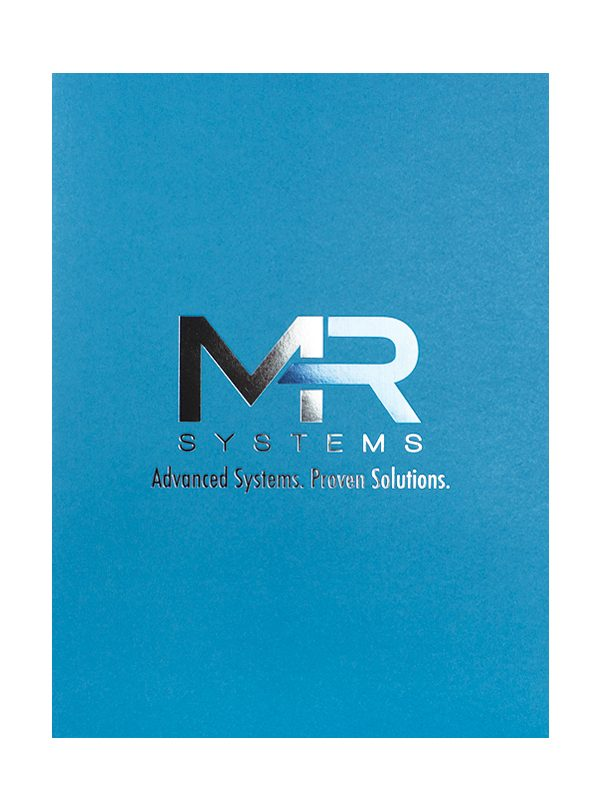MR Systems Die-Cut Pocket Folder (Front View)