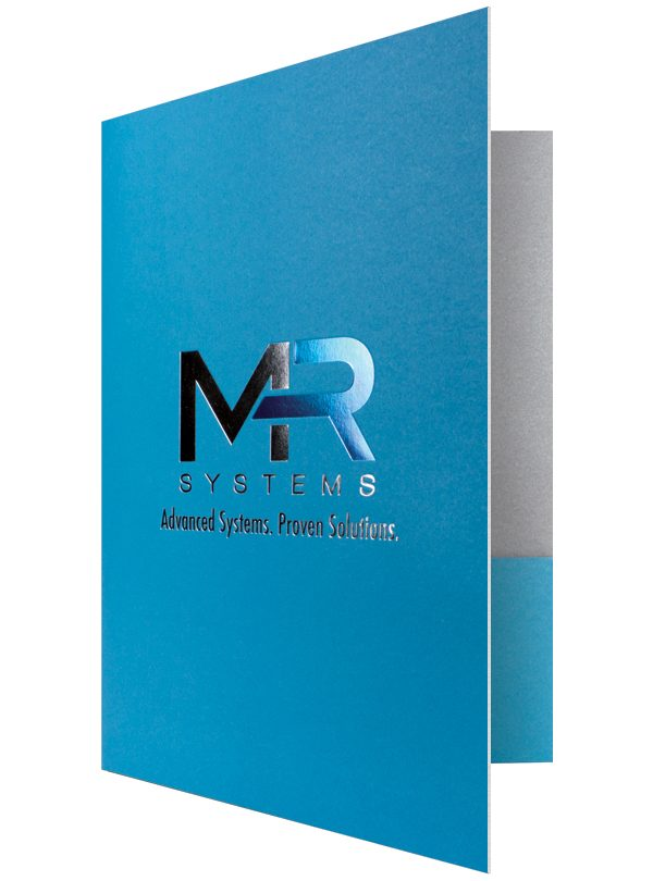 MR Systems Blue Foil Folder (Front Open View)