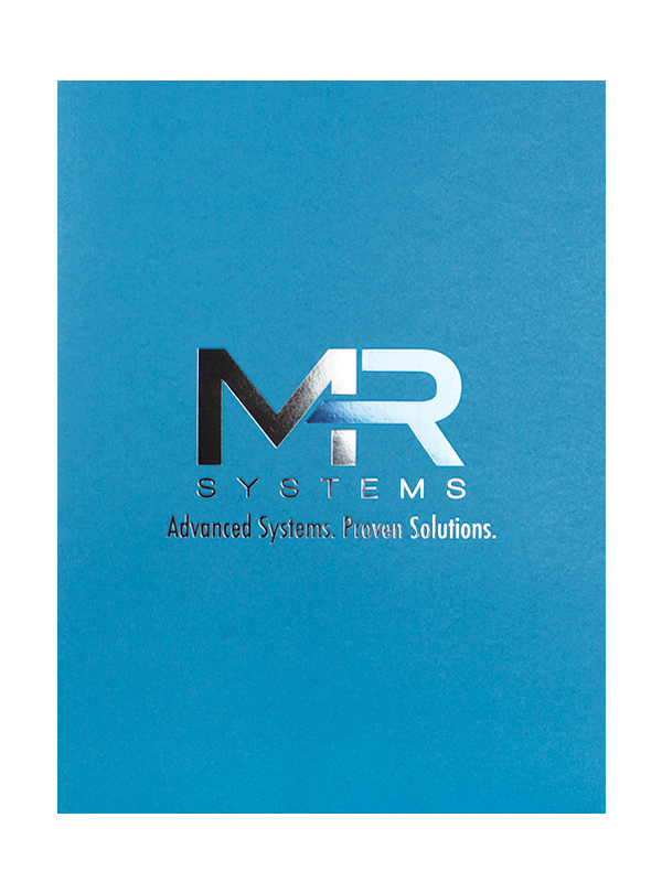 Custom Die-Cut Pocket Folders for MR Systems - Design