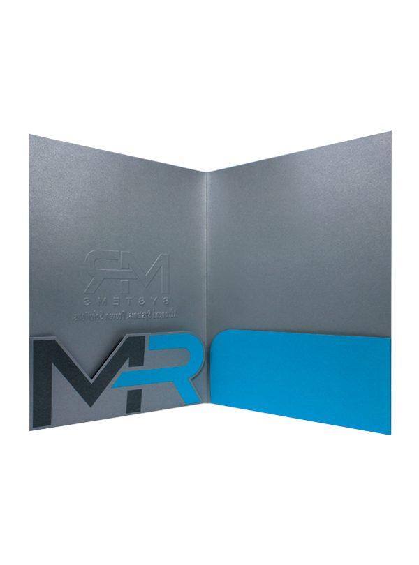 custom die-cut pocket folders for mr systems