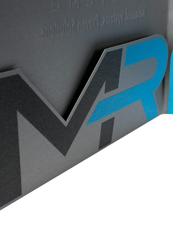 MR Systems Custom Pocket Presentation Folder (Detail)
