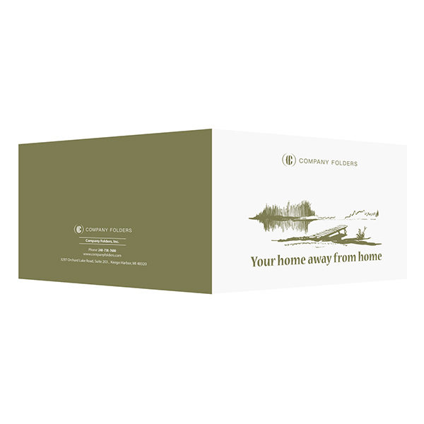 Your Home Away From Home Folder Template (Front and Back View)