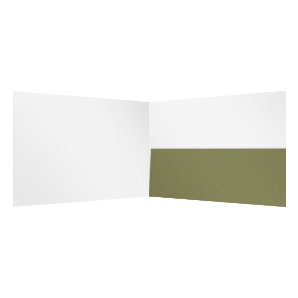 Single Pocket Folder Template (Inside View)