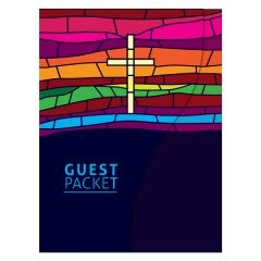 Stained Glass Window Christian Folder Template (Front View)