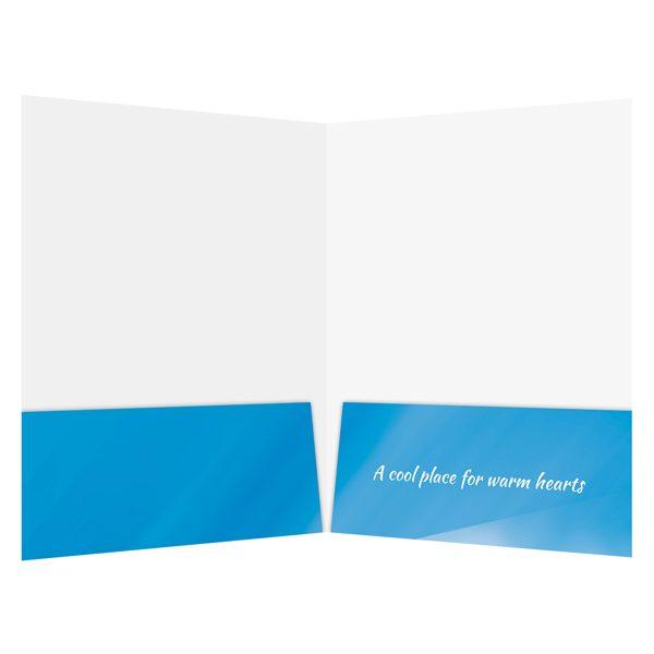 Blue Ski Resort Presentation Folder Template (Inside View)