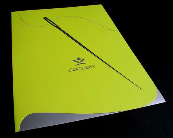 Cocoon Custom Die-Cut Presentation Folder (Front View 1)