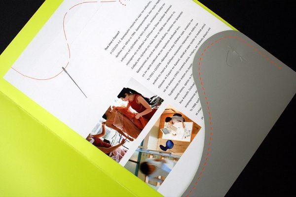 Cocoon Custom Die-Cut Pocket Folder (Inside Detail)