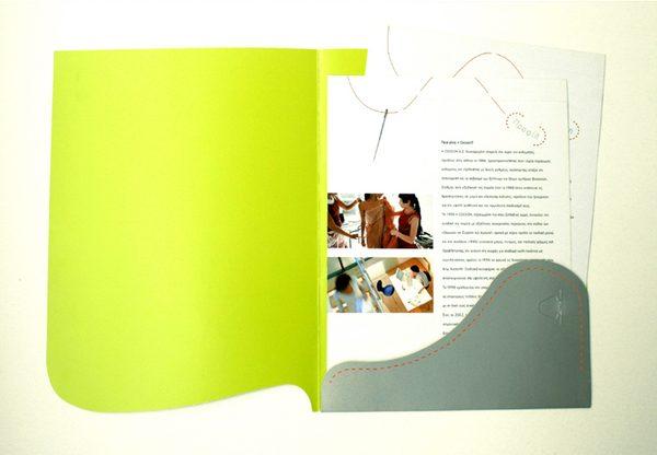 Cocoon Custom Made Presentation Folder (Inside View)