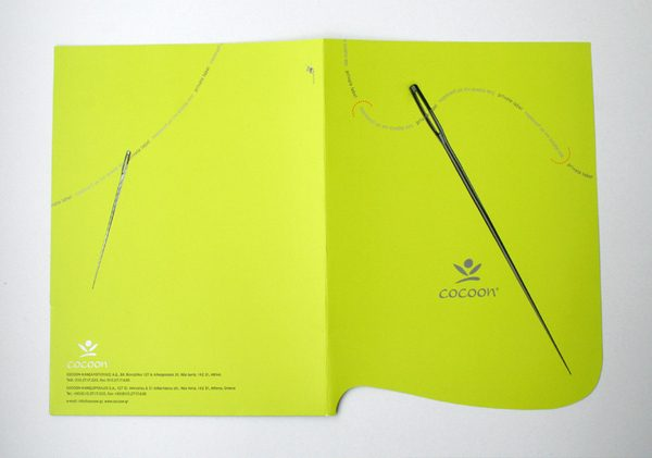 Cocoon Custom Printed Pocket Folder (Front and Back View)