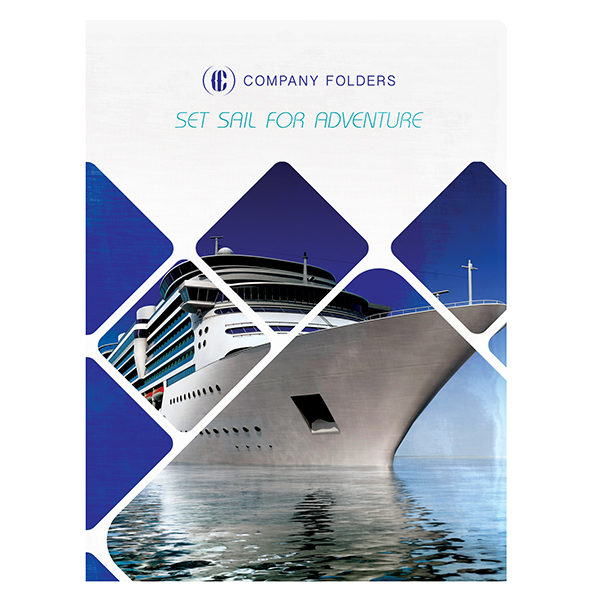 Cruise Ship Adventure Presentation Folder Template (Front View)