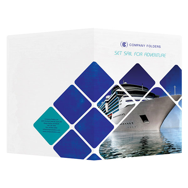 Cruise Ship Adventure Presentation Folder Template