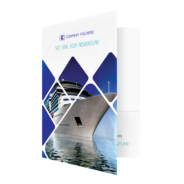 Cruise Ship Adventure Presentation Folder Template (Front Open View)