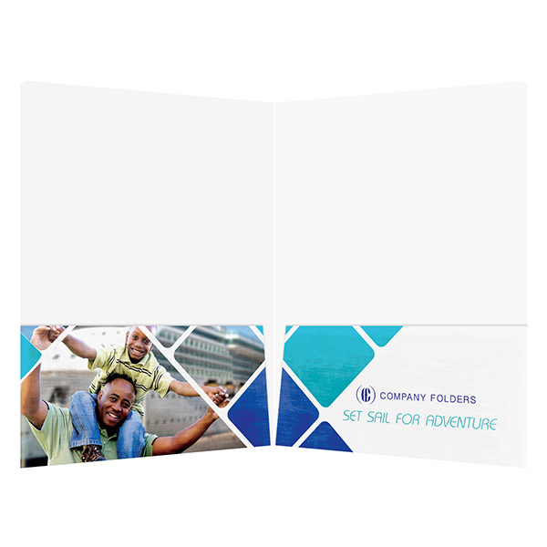 Cruise Ship Adventure Presentation Folder Template (Inside View)