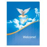 Dove of Love Church Visitors Welcome Folder Template