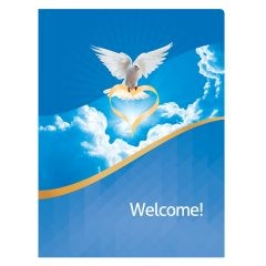 Dove of Love Church Visitors Welcome Folder Template (Front View)