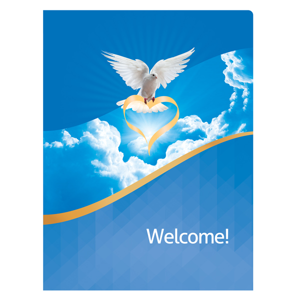 Folder Template Dove Of Love Church Visitors Welcome