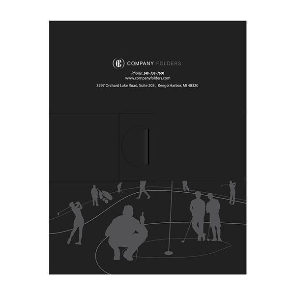 Golf Presentation Folder Template for Illustrator (Back View)