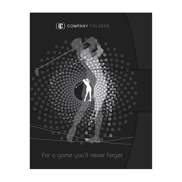 The Golf Swinger Presentation Folder Template